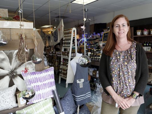 Erin Hinchey, owner of Domestic Dry Goods Company, where everything is made in America, is photographed in Rye Brook.(Photo: Tania Savayan/The Journal News)